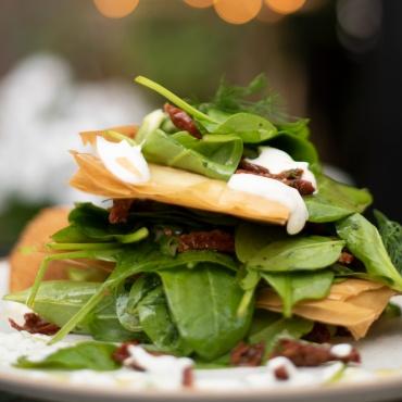 Crispy Spinach Salad