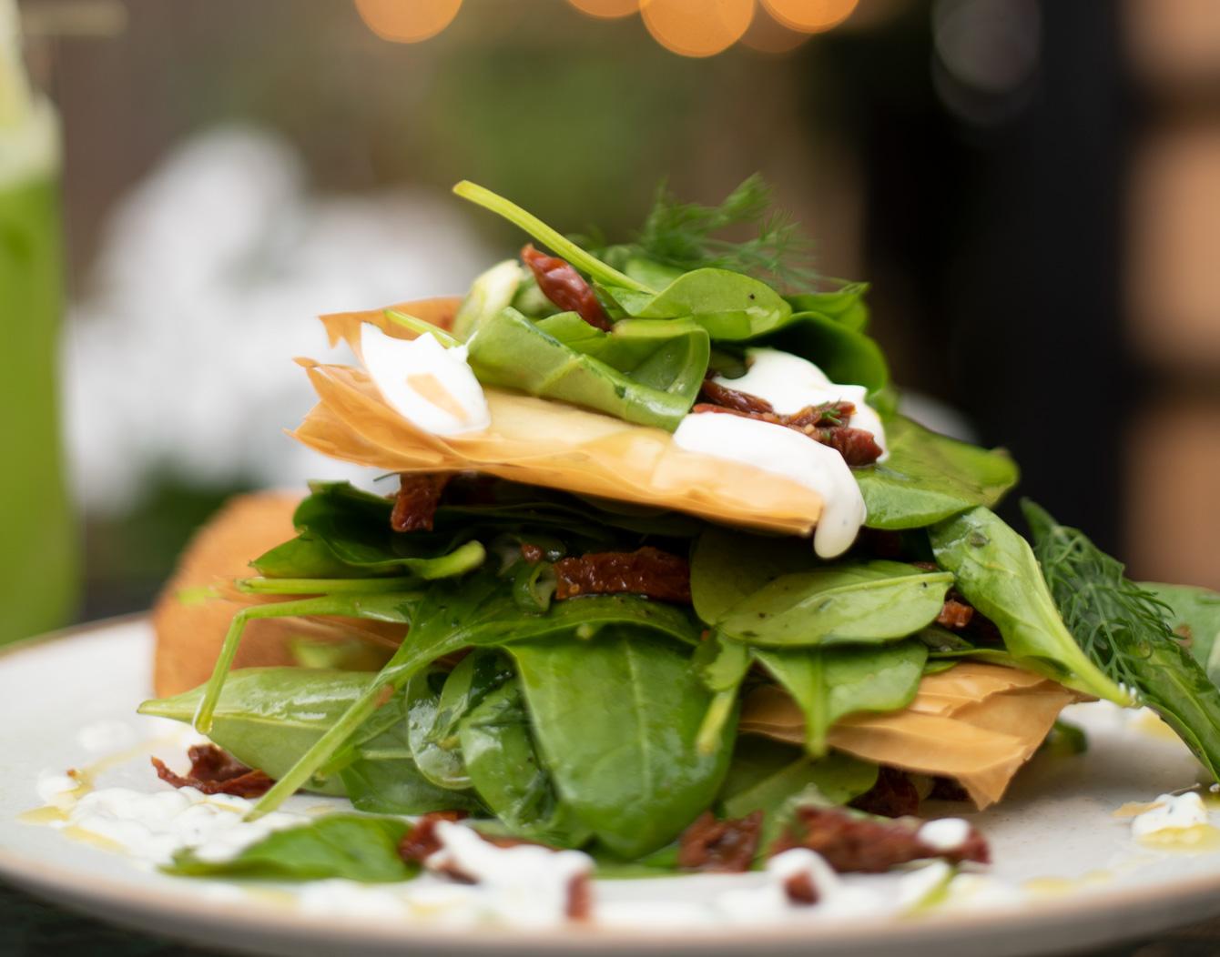 Crispy-spinach-salad